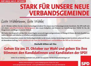 21. Oktober – SPD wählen