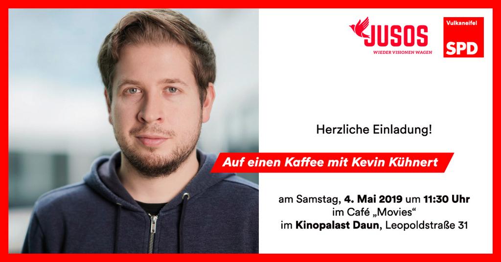 """Einladung zu """"Auf einen Kaffee mit Kevin Kühnert"""""""