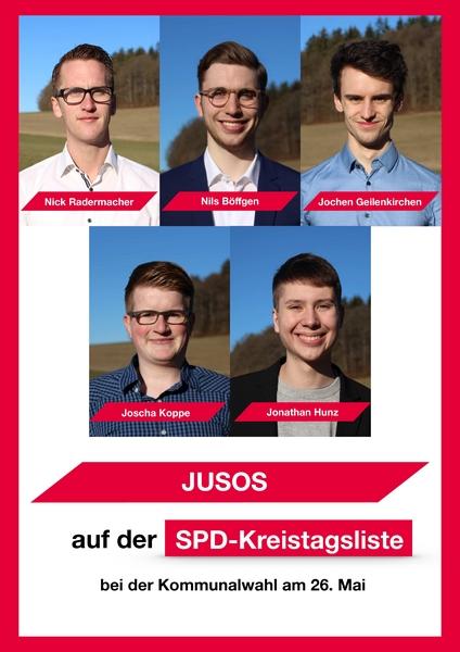 Jusos auf der Kreistagsliste 2019