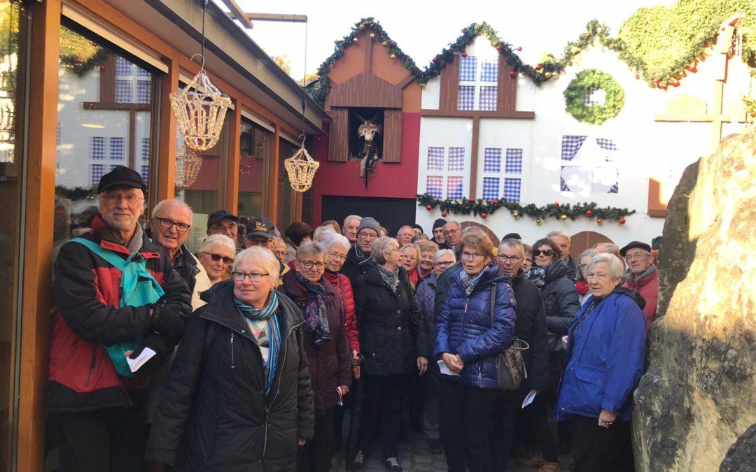 Die AG60 Plus besuchte den Weihnachtsmarkt in Valkenburg
