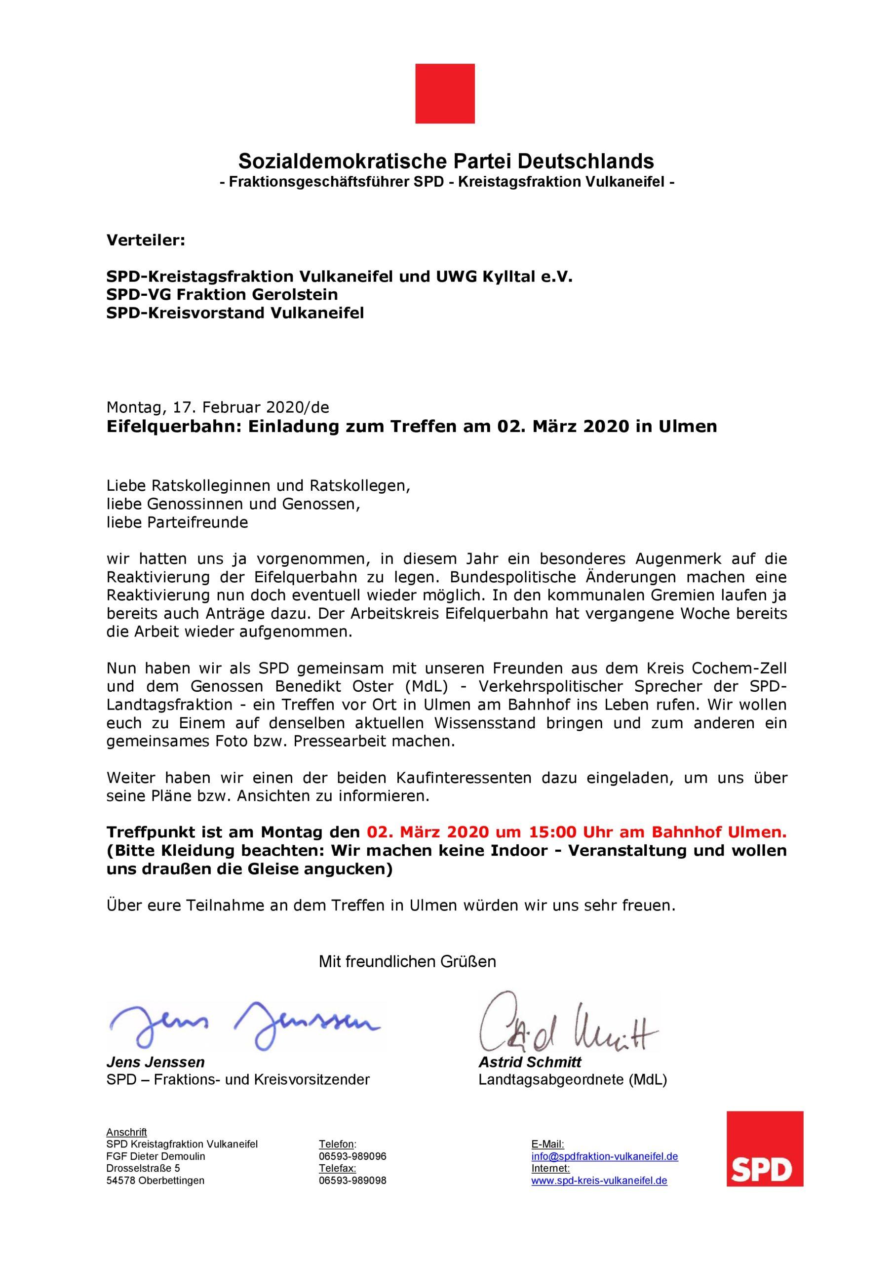 Reaktivierung der Eifelquerbahn - Treffen in Ulmen @ Bahnhof in 56766 Ulmen
