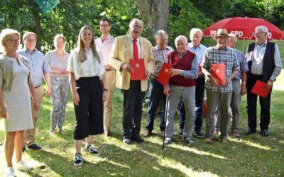Mitgliederehrung der SPD im Hillesheimer Land und der Oberen Kyll vom 04.09.2021